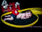 newborn with fire hose