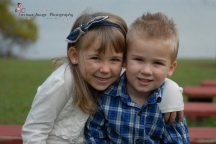 sister and brotherly love at Muddy Run Park in Holtwood, PA