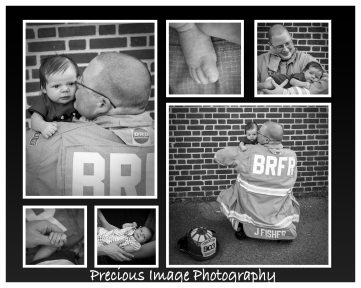 firefighter with newborn son
