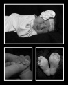 baby girl collage with feet and hands