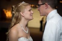 bride gazing at groom