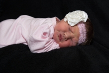 baby girl wearing headband
