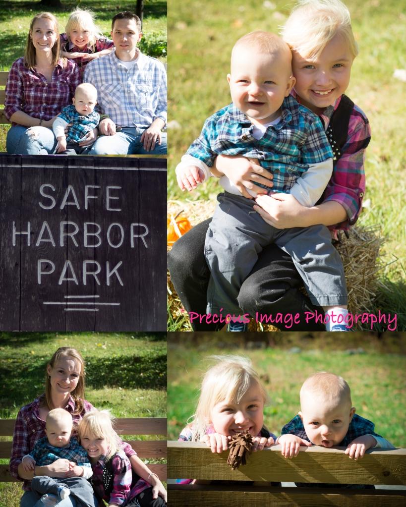 family photos at local park