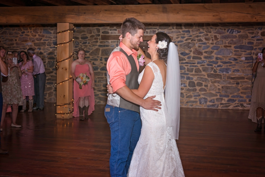 a couple's first dance as husband and wife