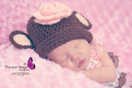 baby with monkey crocheted hat in holtwood, pa