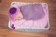 wrapped baby girl in basket in holtwood, pa