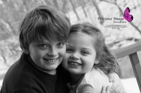 brother and sister smiling in lancaster, pa