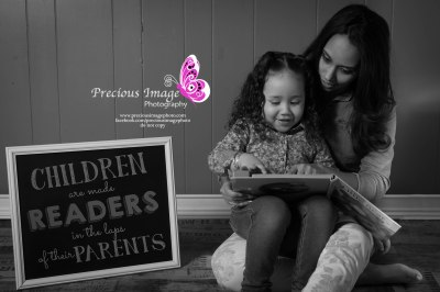 Mom reading to child in photo in lancaster, pa