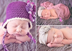 newborn wrapped with headband.